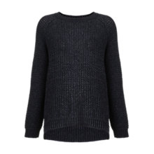 Buy Whistles Cassi Paper Tape Knit Jumper, Navy Online at johnlewis.com