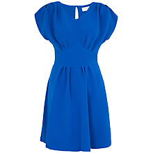 Buy Almari Pleat Back Tie Dress, Blue Online at johnlewis.com