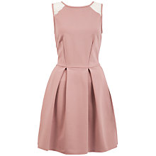 Buy Almari Lace Back Pleat Ponti Dress, Pink Online at johnlewis.com