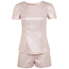 Buy Miss Selfridge Shimmer Playsuit, Nude Online at johnlewis.com