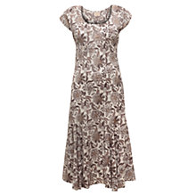 Buy East Samode Print Dress, White Online at johnlewis.com