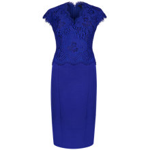 Buy Ted Baker Scallop Lace Bodice Dress, Purple Online at johnlewis.com
