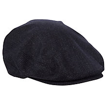 Buy Ted Baker Wovenin Flat Cap, Grey Online at johnlewis.com