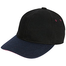 Buy Ted Baker Woolhat Peak Baseball Hat,Black Online at johnlewis.com