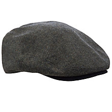 Buy Ted Baker Herra Herringbone Flat Cap, Grey Online at johnlewis.com