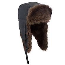 Buy Ted Baker Rylon Faux Fur Trapper Hat, Grey Online at johnlewis.com