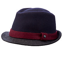 Buy Ted Baker Highlight Band Trilby, Navy Online at johnlewis.com