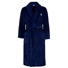 Buy Polo Ralph Lauren Terry Cotton Robe, Navy Online at johnlewis.com