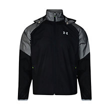 Buy Under Armour Flyweight Running Jacket, Black/Grey Online at johnlewis.com