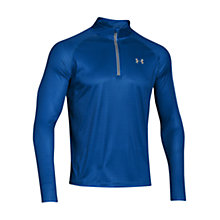Buy Under Armour Promise Land 1/4 Zip Long Sleeve Top, Blue Online at johnlewis.com