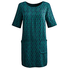 Buy Joules Etty Damask Tunic Dress, Damasque Online at johnlewis.com