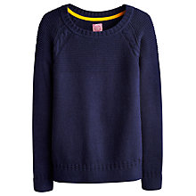 Buy Joules Lowry Cable Jumper, French Navy Online at johnlewis.com