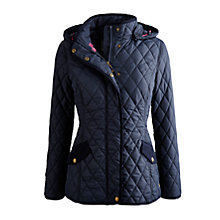 Buy Joules Marcotte Hood Quilted Jacket, Marine Navy Online at johnlewis.com