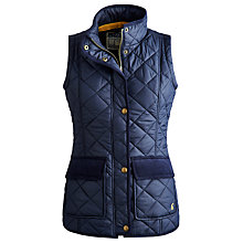 Buy Joules Milham Quilted Gilet, Marine Navy Online at johnlewis.com