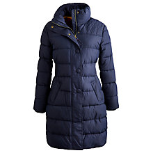 Buy Joules Langridge Padded Coat, Marine Navy Online at johnlewis.com