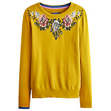 Buy Joules Marsha Flower Knit, Honey Online at johnlewis.com