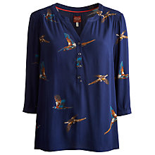 Buy Joules Leticia Blouse, Navy Pheasant Online at johnlewis.com