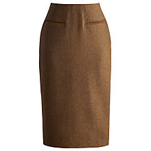 Buy Joules Iona Tweed Skirt, Chestnut Online at johnlewis.com