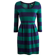 Buy Joules Daphne Jersey Dress, Green Stripe Online at johnlewis.com