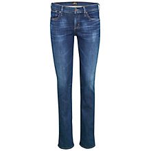 Buy A Gold E Elodie Regular Rise Straight Jeans, Laguna Online at johnlewis.com