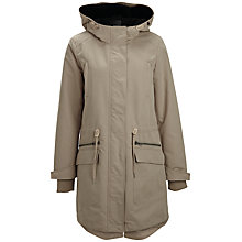 Buy Selected Femme Maddy Hooded Parka, Plaza Taupe Online at johnlewis.com