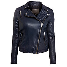 Buy Muubaa Milou Quilted Biker Jacket, Blue Online at johnlewis.com