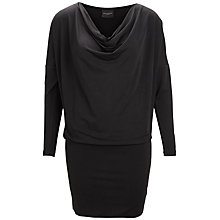 Buy Selected Femme Sky Waterfall Dress, Black Online at johnlewis.com