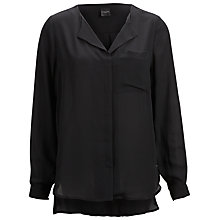 Buy Selected Femme Dynella Shirt, Black Online at johnlewis.com