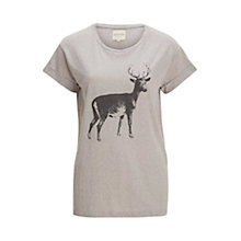 Buy Selected Femme Reindeer T-Shirt, Light Grey Online at johnlewis.com