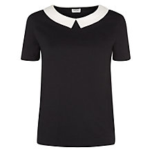 Buy People Tree Linda Top, Black Online at johnlewis.com