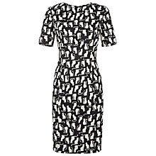 Buy People Tree Mila Cat Print Dress, Black Online at johnlewis.com