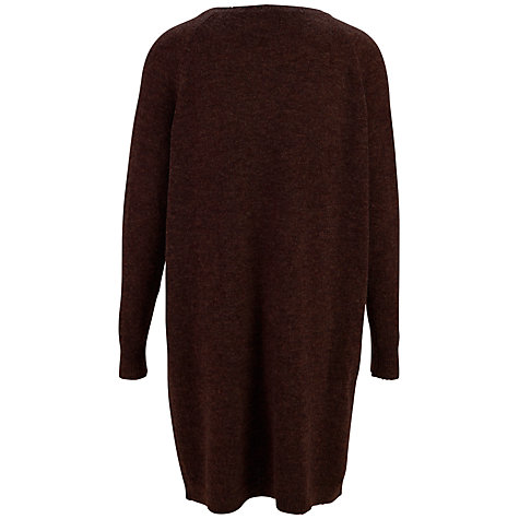 Buy Selected Femme Milano Knit Dress, Bitter Chocolate Online at johnlewis.com
