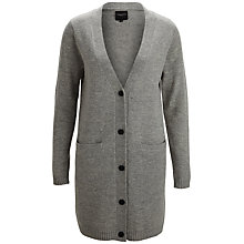 Buy Selected Femme Lambswool Cardi, Light Grey Online at johnlewis.com