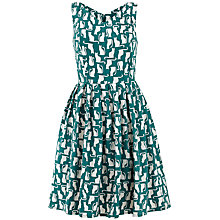 Buy People Tree Juliette Cat Dress, Teal Online at johnlewis.com
