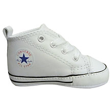 Buy Converse Childrens' Star Trainers, White Online at johnlewis.com