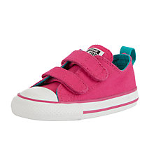 Buy Converse Childrens' Low-Top Rip-Tape Trainers, Bright Pink Online at johnlewis.com
