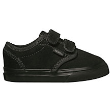Buy Vans Atwood Children's Suede Trainers, Black Online at johnlewis.com