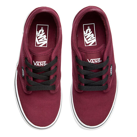 Buy Vans Childrens' Atwood Canvas Trainers, Oxblood Online at johnlewis.com