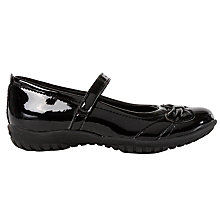 Buy Geox Patent Leather Shoes, Black Online at johnlewis.com