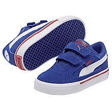 Buy Puma S Evolution Children's Trainers, Grey/Blue Online at johnlewis.com