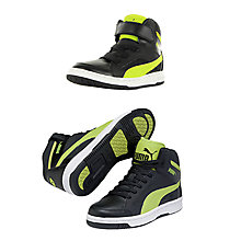 Buy Puma Childrens's Rebound V2 High-Top Trainers, Black/Multi Online at johnlewis.com