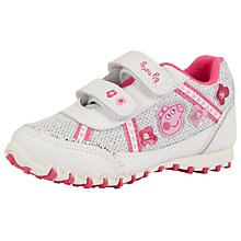 Buy Peppa Pig Rip-Tape Trainers, White/Pink Online at johnlewis.com