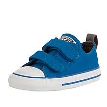 Buy Converse Childrens' Low-Top Rip-Tape Trainers, Blue Online at johnlewis.com