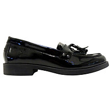 Buy Geox Children's Agata Moccasins, Black Online at johnlewis.com