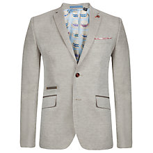 Buy Ted Baker Dainy Linen Blazer, Natural Online at johnlewis.com