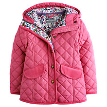 Buy Little Joule Girls' Marcotte Quilted Hooded Coat, Pink Online at johnlewis.com