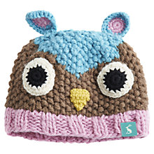 Buy Baby Joule Knitted Owl Amie Hat, Multi Online at johnlewis.com