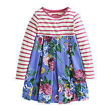Buy Little Joules Girls' Hayley Floral Dress, Light Blue Online at johnlewis.com