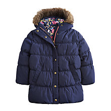 Buy Little Joule Girls' Merrydale Padded Coat, Navy Online at johnlewis.com