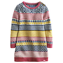Buy Little Joule Girls' Meredith Fairisle Knitted Dress, Multi Online at johnlewis.com